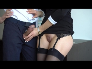 Veronika_charm - sexy secretary in stockings makes boss cum on her dress in office