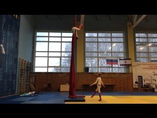 Устимова София и Калгина Арина, воздушное полотно, дуэт