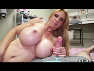 Clubtug brooke tyler big tits boobs busty pov handjob masturbation cumshot milf mature камшот мастурбация