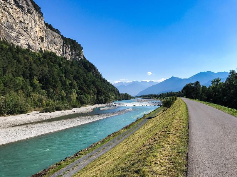 Велосипедная дорога вдоль Рейна