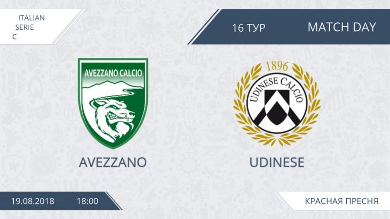 AFL18. Italy. Serie C. Day 16. Avezzano - Udinese