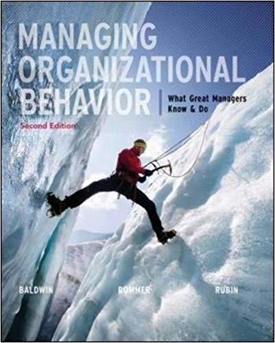 Managing Organizational Behavior