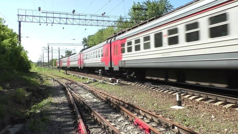 Электропоезд ЭД4М-0429 (ТЧ-31) пригородный поезд № 6514, Аэропорт - Москва.