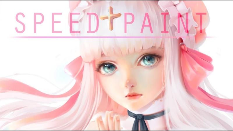 Speed Paint-Commission headshot- Paint tool sai- Lulybot