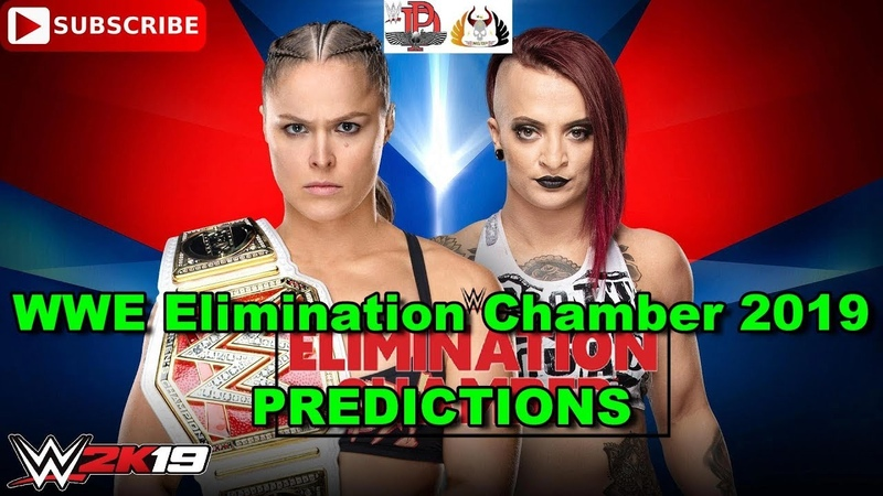 WWE Elimination Chamber 2019 Raw Women's Championship Ronda Rousey vs Ruby Riott WWE 2K19