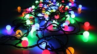 гирлянда электрическая SNOWHOUSE Шарики цветные, 100 ламп, разноцветная, уличная, мигающая OLDBL100