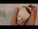 Как вырезать глазницы кукле под вставные глазки.