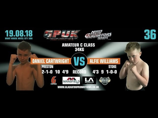 GPUK Night Of The Gladiators 36 Jordan Cartwright vs Alfie Williams