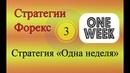Стратегии Форекс 03 - Одна неделя