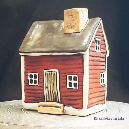 "Szilvia Vihriälä on Instagram 40housesin40days This is House nr 15 a traditional Finnish log cabin 😍 sold I glaze the batch randomly and as always started with…"""