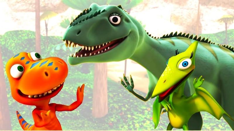 Мультфильм Поезд Динозавров Лаура Гигантозавр