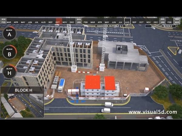 4d construction schedule animation