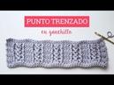 Tutorial punto trenzado en ganchillo Crochet cable stitch