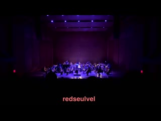 Red velvet's bad boy, ice cream cake, and dumb dumb played by a 50 piece orchestra at