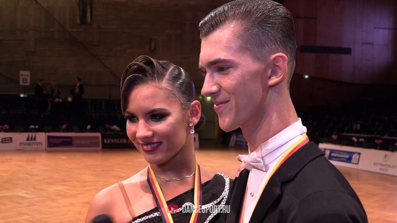 Ivan Reshetnikov - Elizaveta Kharinova RUS, Interview, German Open Championships 2019