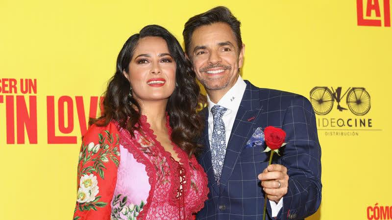 Сальма Хайек на премьере фильма Как быть латинским любовником в Мехико 03 05 2017