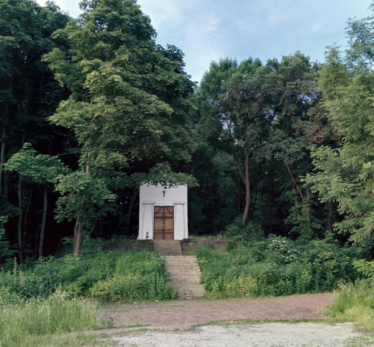 Аскольдова могила на берегу Днепра.