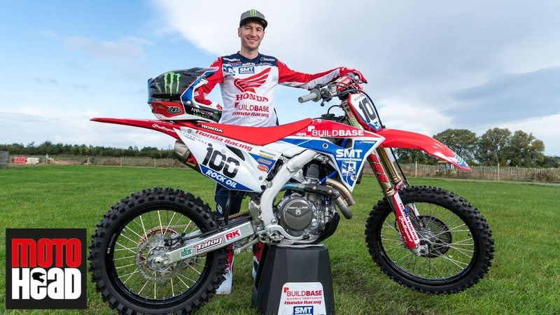 Tommy Searle's first ride on his new 2020 Buildbase Honda CRF450R