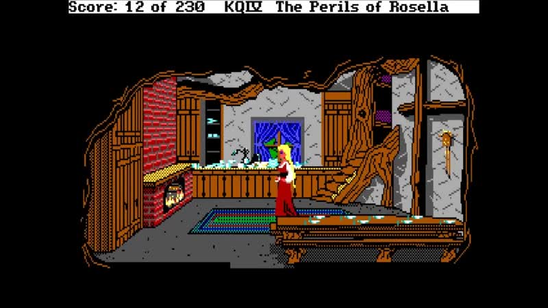King's quest IV Rosella cleans the house