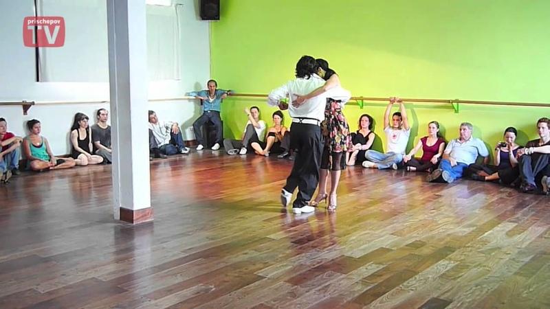 Gaston Torelli y Moira Castellano DNI Tango Studio Buenos Aires, Argentina February 2010