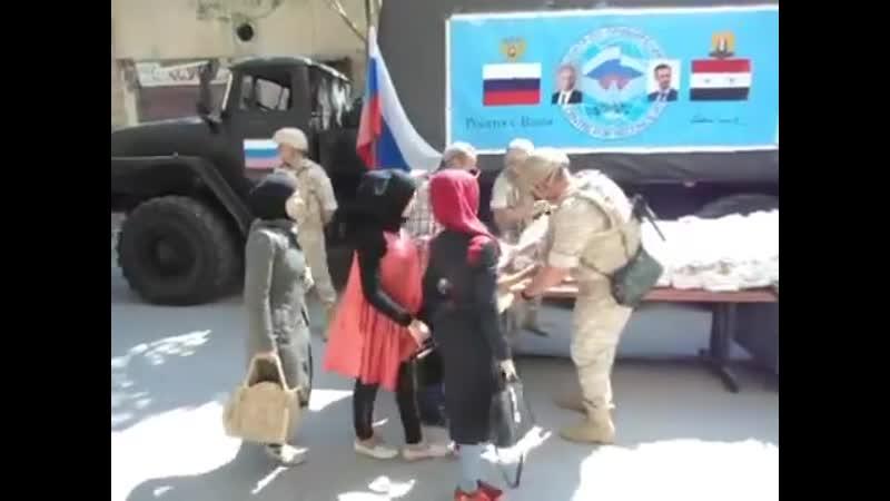 Раздачи гум пакетов жителям города Хазе