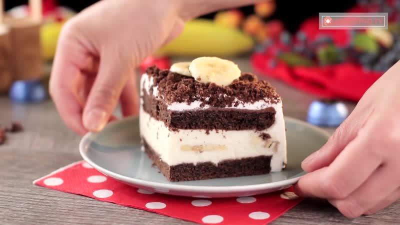Бисквитный торт с бананами - безумно вкусный, ароматный и неповторимый!