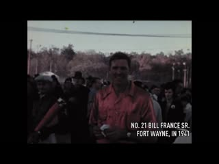 Never before seen footage of big bill france racing in the 1940s