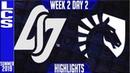 CLG vs TL Highlights | LCS Bắc Mỹ Mùa hè 2019 | CLG vs TL Highlights LCS Summer 2019 Week 2 Day 2