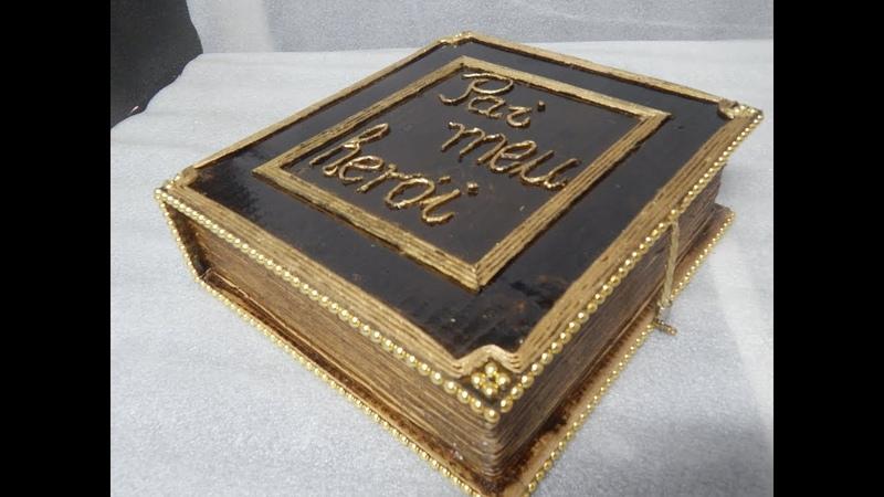 Como fazer uma caixa em forma livro Dia dos Pais-Zé Paulo-182