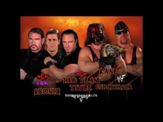 The Brothers of Destruction ( Kane & Undertaker ) vs Kronik (  Brian Adams & Bryan Clark ) Unforgiven 2001