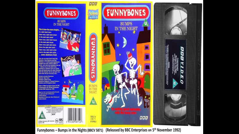 Funnybones Bumps in the Night BBCV 4871 1992 UK VHS