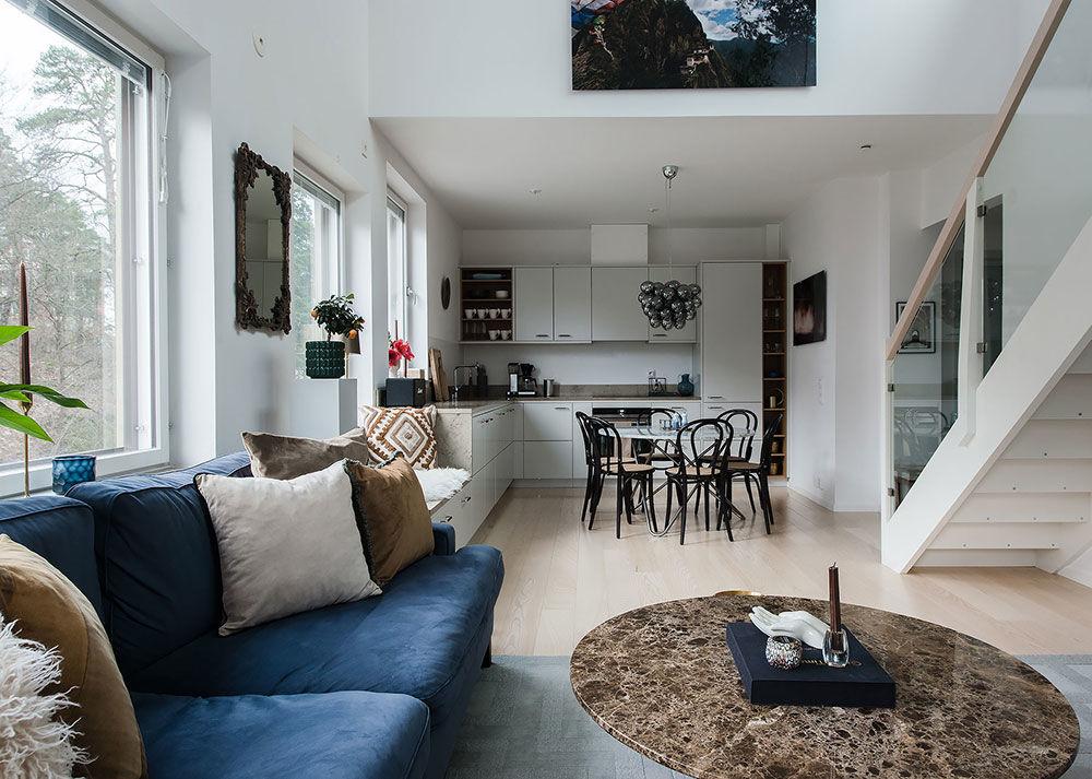 Квартира с балконом и террасой на крыше в Швеции (60 кв.