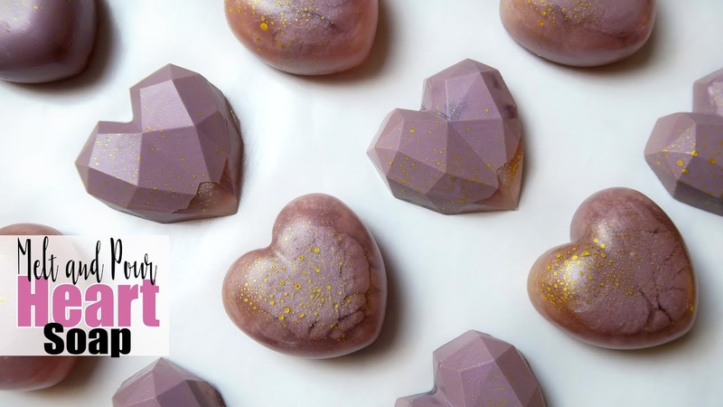 DIY Melt and Pour Heart Soaps - Spicy Pinecone