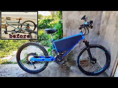 How to make your own ebike from hard tail to custom full suspension bike