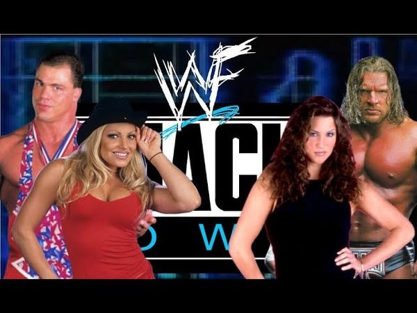 WWE 2K20 - Kurt Angle Trish Stratus vs Triple H Stephanie McMahon, Smackdown 01, Mixed Tag Team