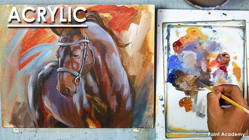 Acrylic Painting : Horse