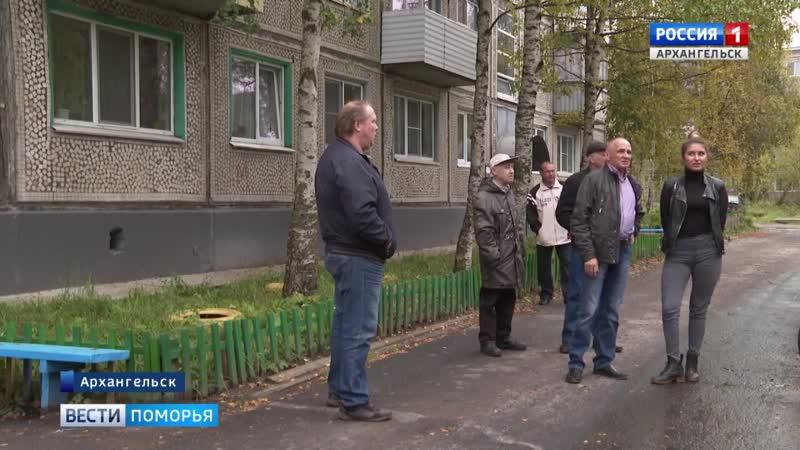 В Архангельске дерево держит в страхе жильцов сразу двух домов по Ленинградскому проспекту