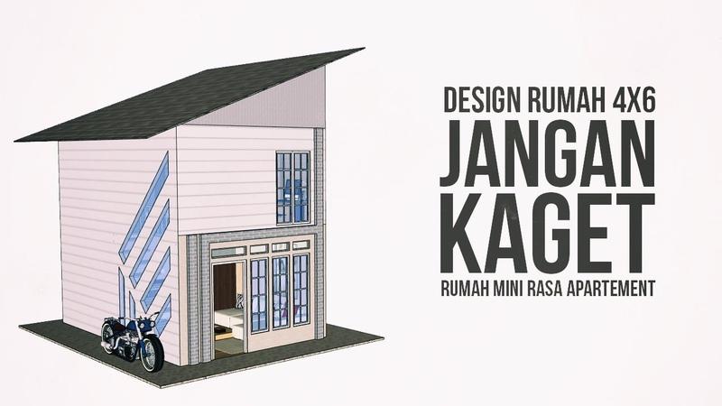 Denah Rumah 4x6, Desain Rumah Kecil Rasa Apartement