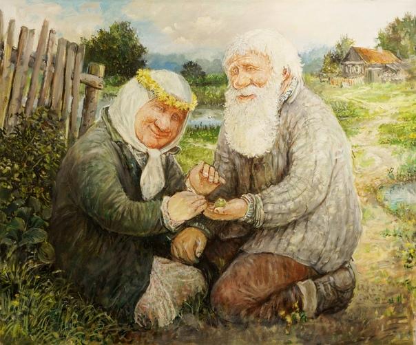 Счастливая старость глазами художника Леонида Баранова