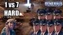 Command Conquer Generals Zero Hour GLA Stealth 1 vs 7 USA Airforce HARD ENEMY