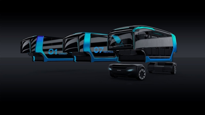 Scania NXT – the conceptual battery electric autonomous vehicle for the future