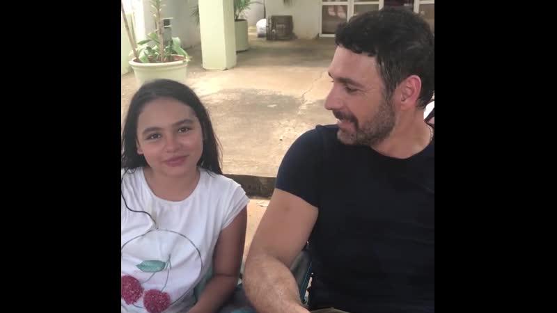 Рауль и Изабелла за кадром съёмок сериала Королева юга 2
