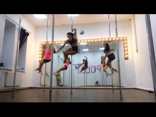 Pole dance, связка с занятия