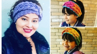 The Braided Headband 2 Sizes Woman and Little Girls Ages 6 - 12 years old - Crochet Tutorial