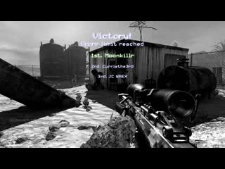 Loaded up mw2 with the boys for some snipers only on rust, final kill had to be a 360, fun times. modern warfare 2