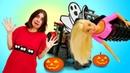 Барби, Хлоя и Харли Квинн пошутили. Сериал про школу - Играем в куклы - Я не хочу в школу 35