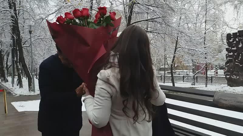 Моя мама Айсулу и Бакытжан Сагинтаев открыли памятник Шамши Калдаякову Алматы 07 11 2019