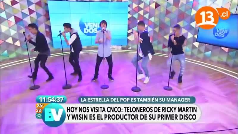 CNCO canta Tan Fácil y Devuélveme mi corazón en Chile (02⁄03⁄16)