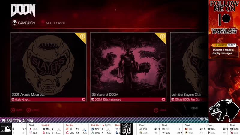 WEDNESDAY NIGHT DOOM Doom LIVE MLB NFL NBA NHL NCAA