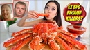 WHOLE KING CRAB MUKBANG 먹방   King Crab Legs Spicy Seafood Sauce Eating Show